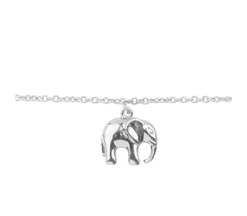 Souvenir Silverplated Armband Olifant