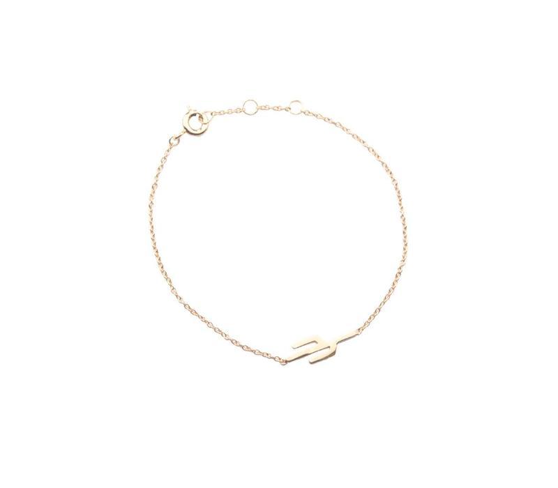 Souvenir Goldplated Bracelet Cactus