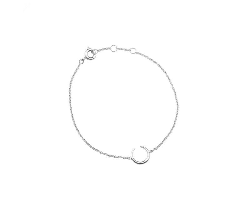 Armband Hoorn zilver