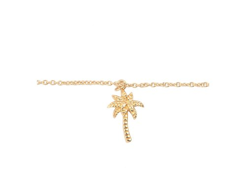 All the Luck in the World Souvenir Goldplated Bracelet Palm Tree