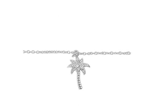 All the Luck in the World Souvenir Silverplated Bracelet Palm Tree
