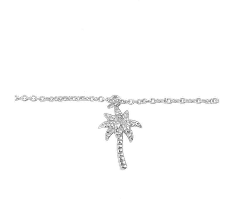 Souvenir Silverplated Bracelet Palm Tree