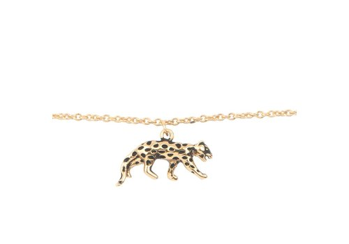 All the luck in the world Armband Luipaard goud