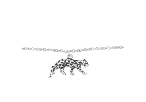 All the luck in the world Armband Luipaard zilver