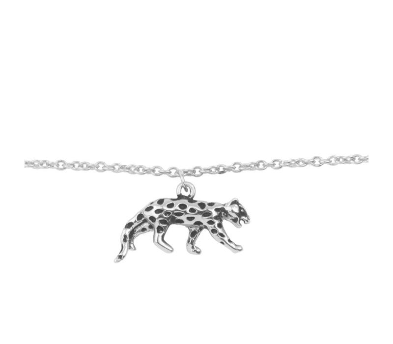 Armband Luipaard zilver