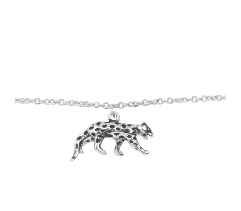 Souvenir Silverplated Bracelet Leopard