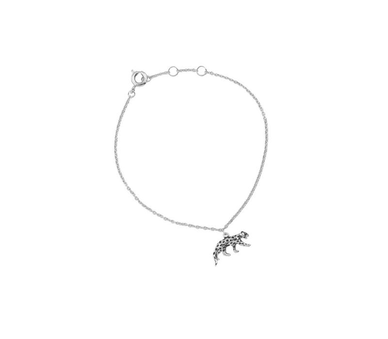 Souvenir Silverplated Armband Luipaard