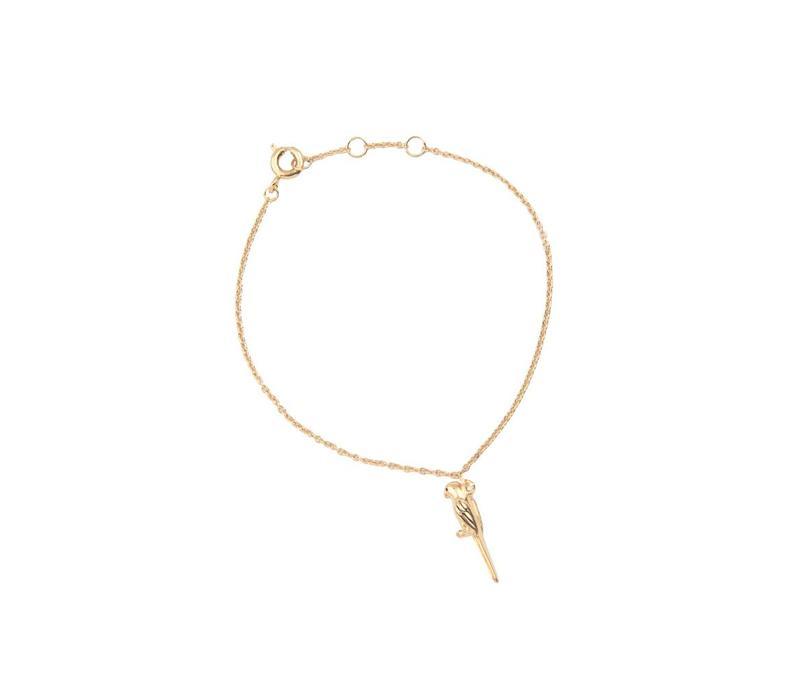 Armband Papegaai goud