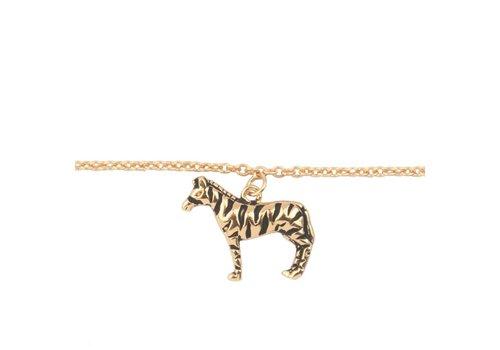 All the Luck in the World Bracelet Zebra gold