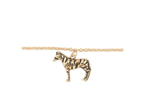 All the Luck in the World Souvenir Goldplated Armband Zebra