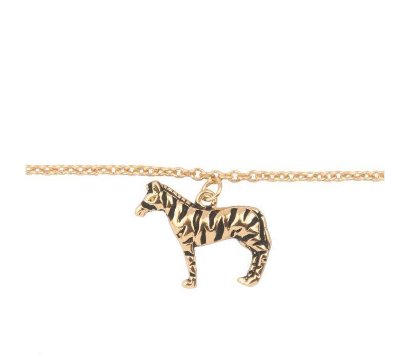 Armband Zebra verguld
