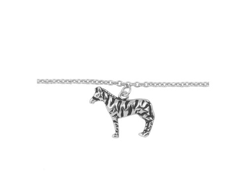 All the Luck in the World Armband Zebra zilver