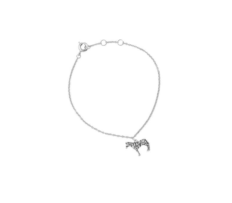Armband Zebra zilver