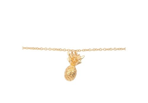 All the luck in the world Armband Ananas goud