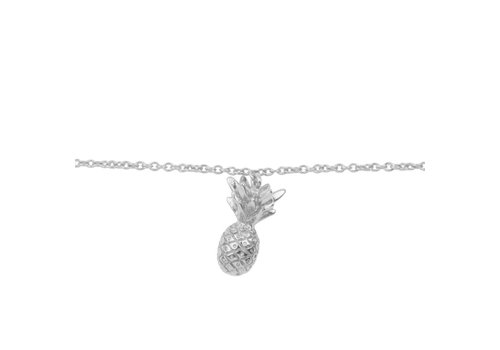 All the Luck in the World Souvenir Silverplated Bracelet Pineapple