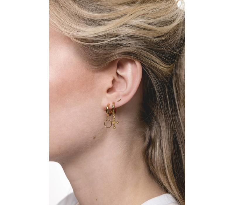 Earring Cross gold