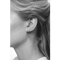Souvenir Silverplated Earring Cross