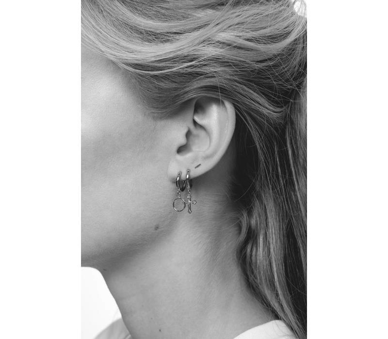 Earring Cross silver