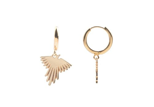 All the Luck in the World Earring Eagle gold