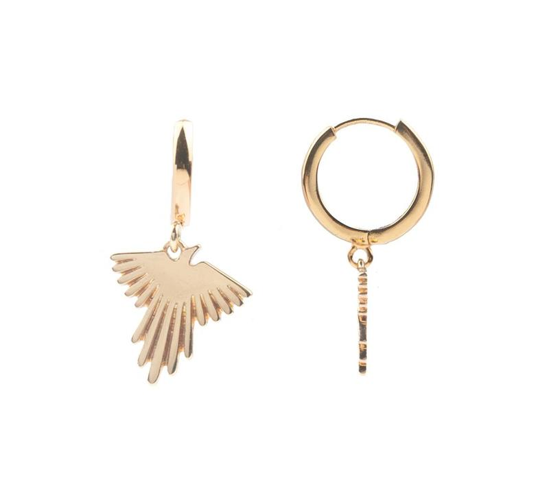 Earring Eagle gold