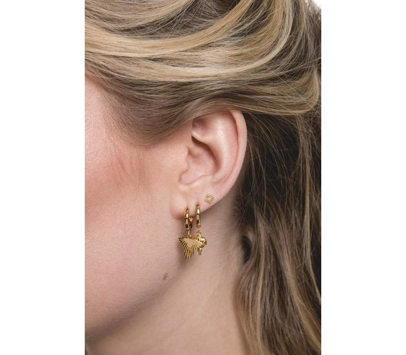 Souvenir Goldplated Earring Eagle