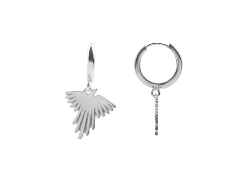 All the luck in the world Earring Eagle silver