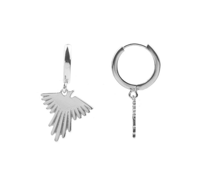Earring Eagle silver