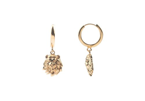 All the luck in the world Earring Lion gold