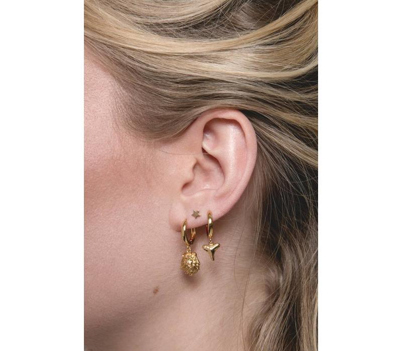 Souvenir Goldplated Earring Lion