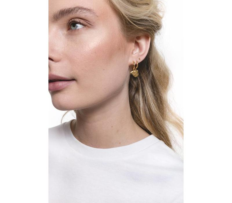 Earring Lips gold