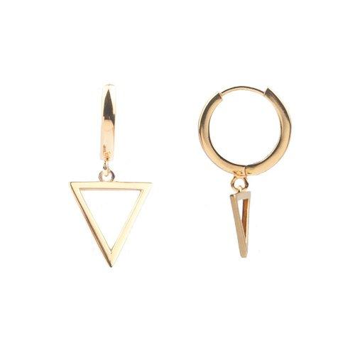 Oorbel Open Driehoek goud