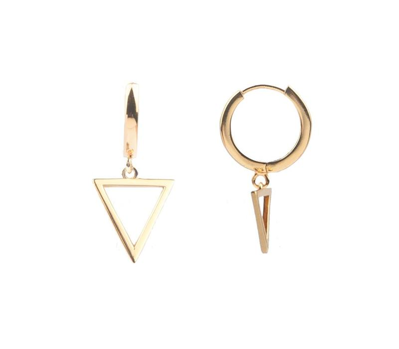 Earring Open Triangle gold