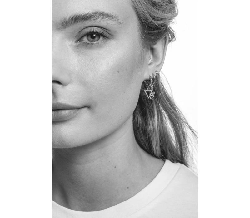 Earring Open Triangle silver