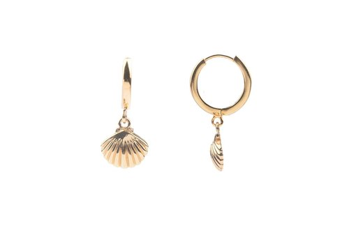 All the luck in the world Earring Sea Shell gold