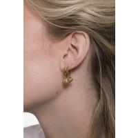 Souvenir Goldplated Earring Wolf