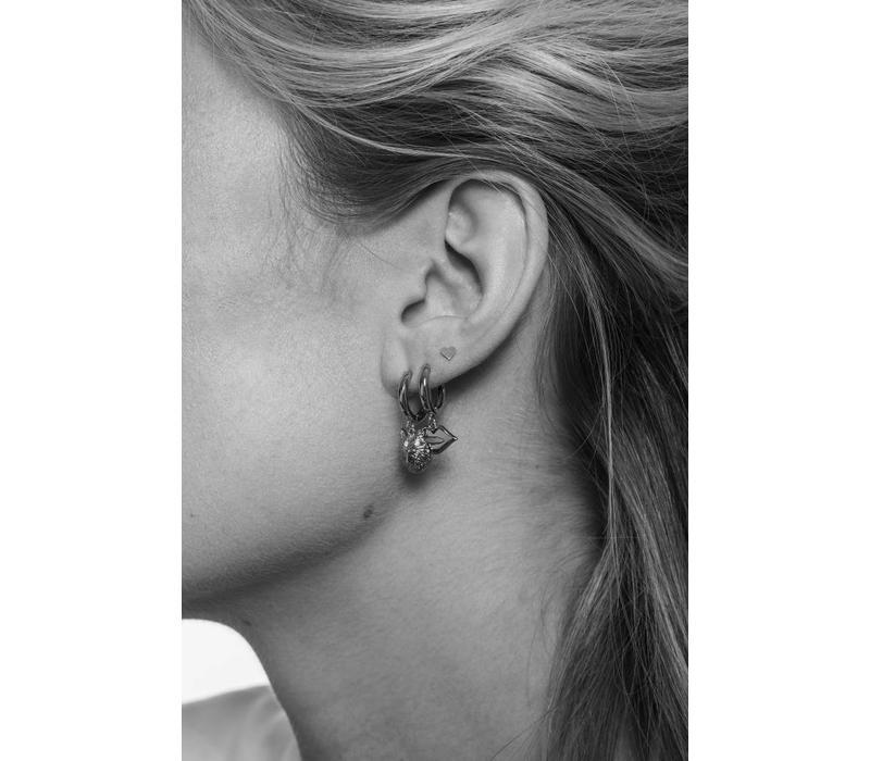 Souvenir Silverplated Earring Wolf