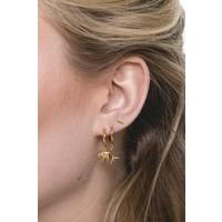 Earring Elephant plated