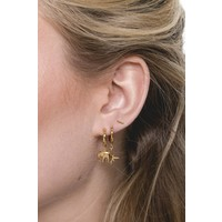 Souvenir Goldplated Earring Elephant