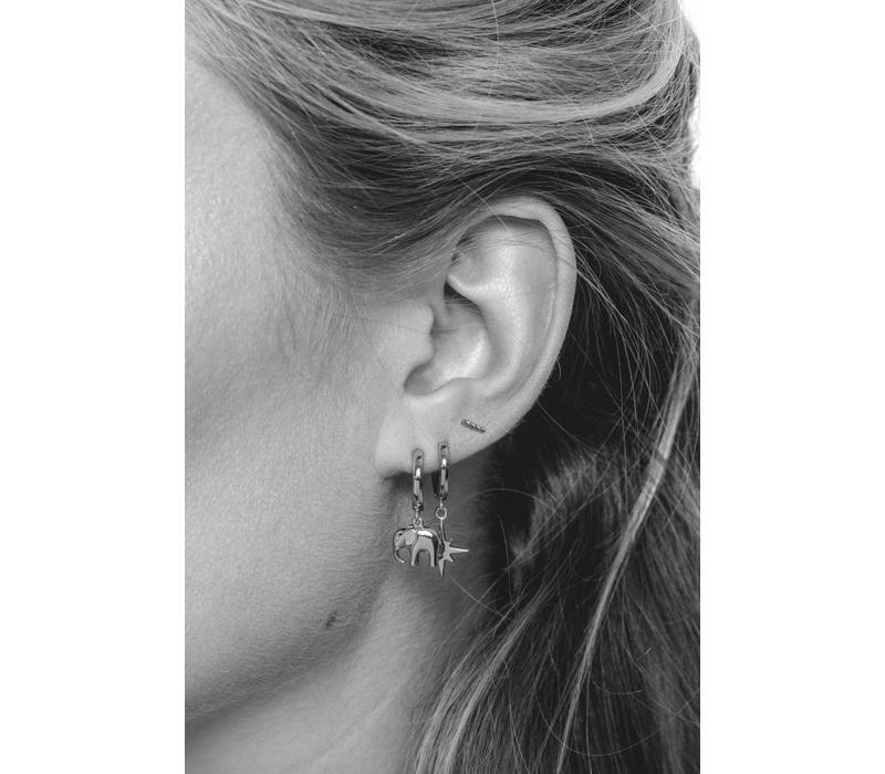 Earring Elephant silver