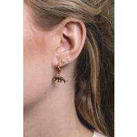 Earring Leopard plated