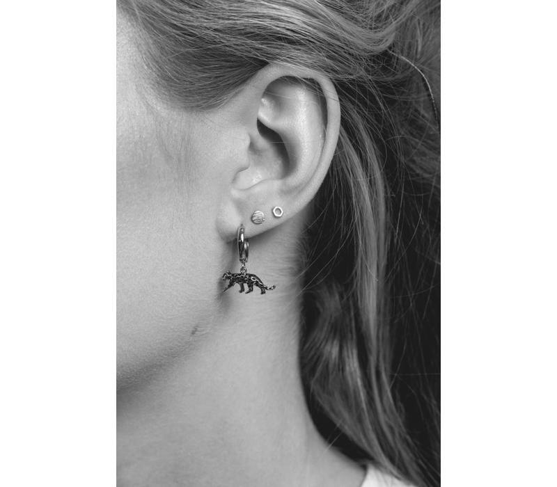 Earring Leopard silver