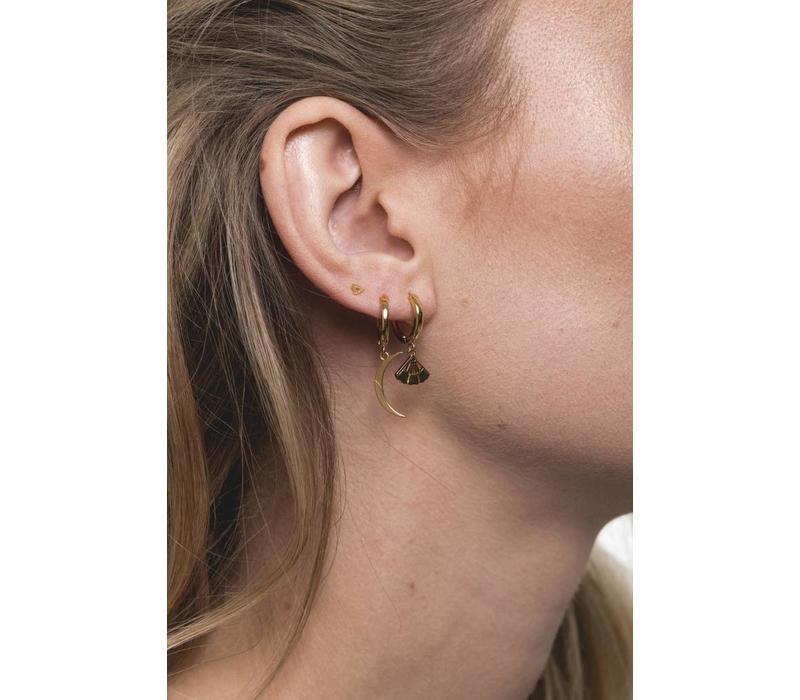 Souvenir Goldplated Earring Long Moon