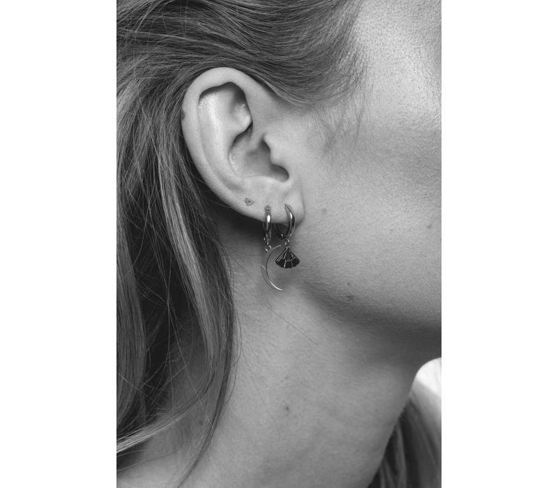 Earring Long Moon plated