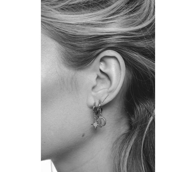 Earring Star Burst silver