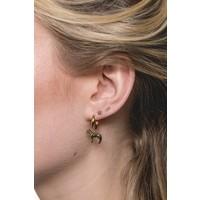 Souvenir Goldplated Earring Zebra