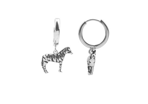 All the Luck in the World Earring Zebra silver