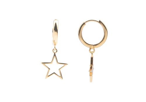 All the Luck in the World Earring Star gold