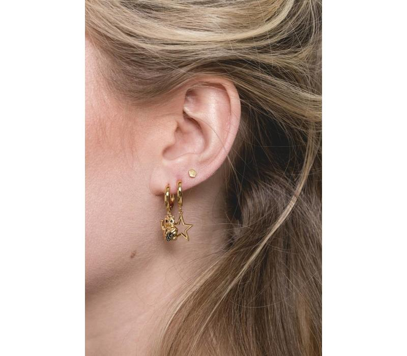 Earring Star plated