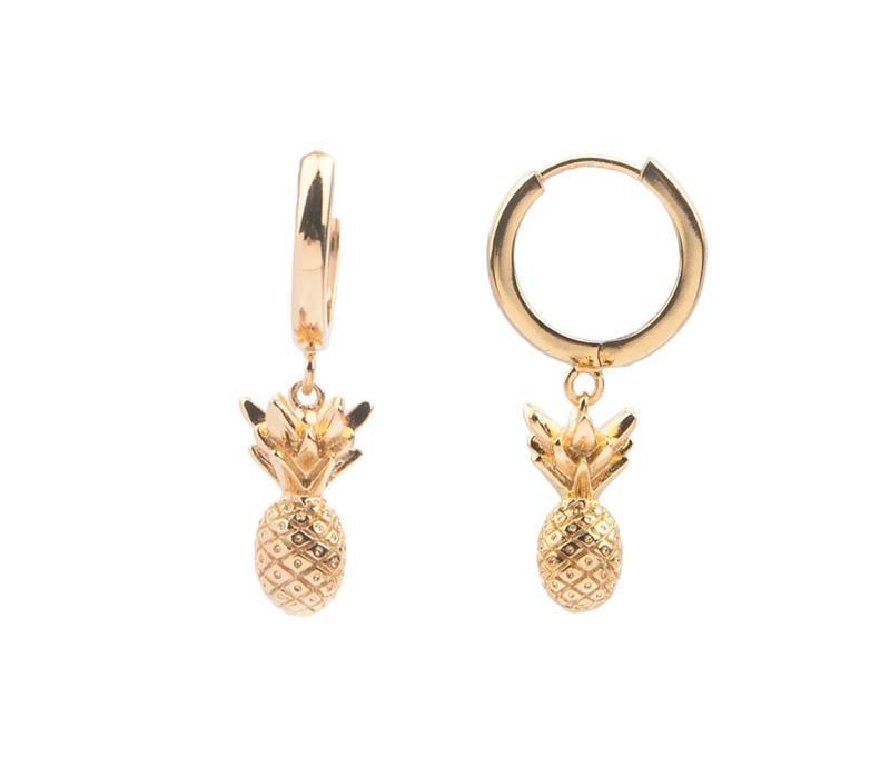 Earring Pineapple gold