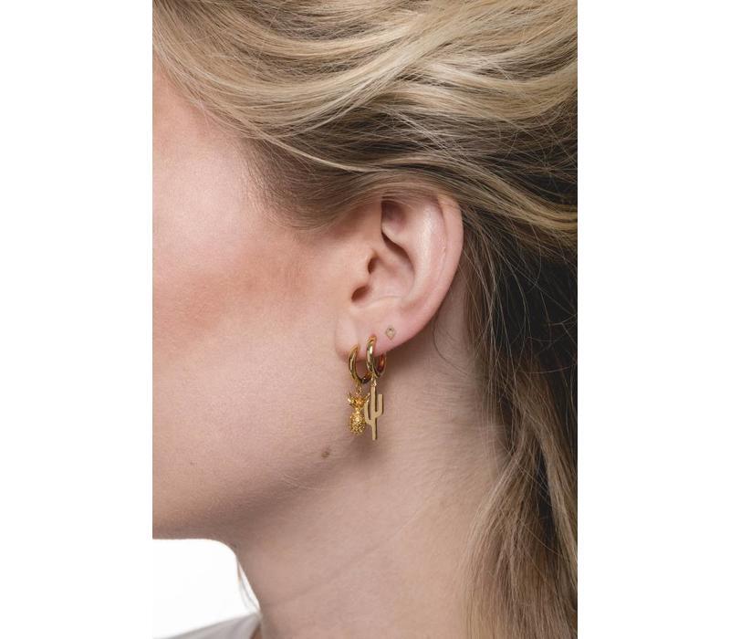 Souvenir Goldplated Earring Pineapple